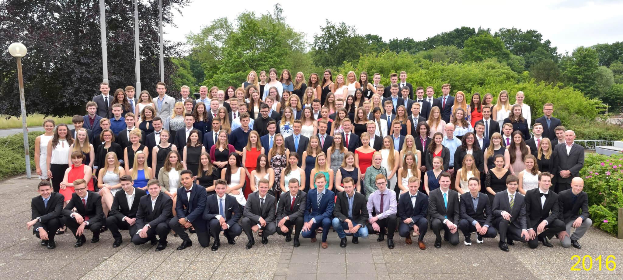 Abitur 2016 Jahrgangsbild