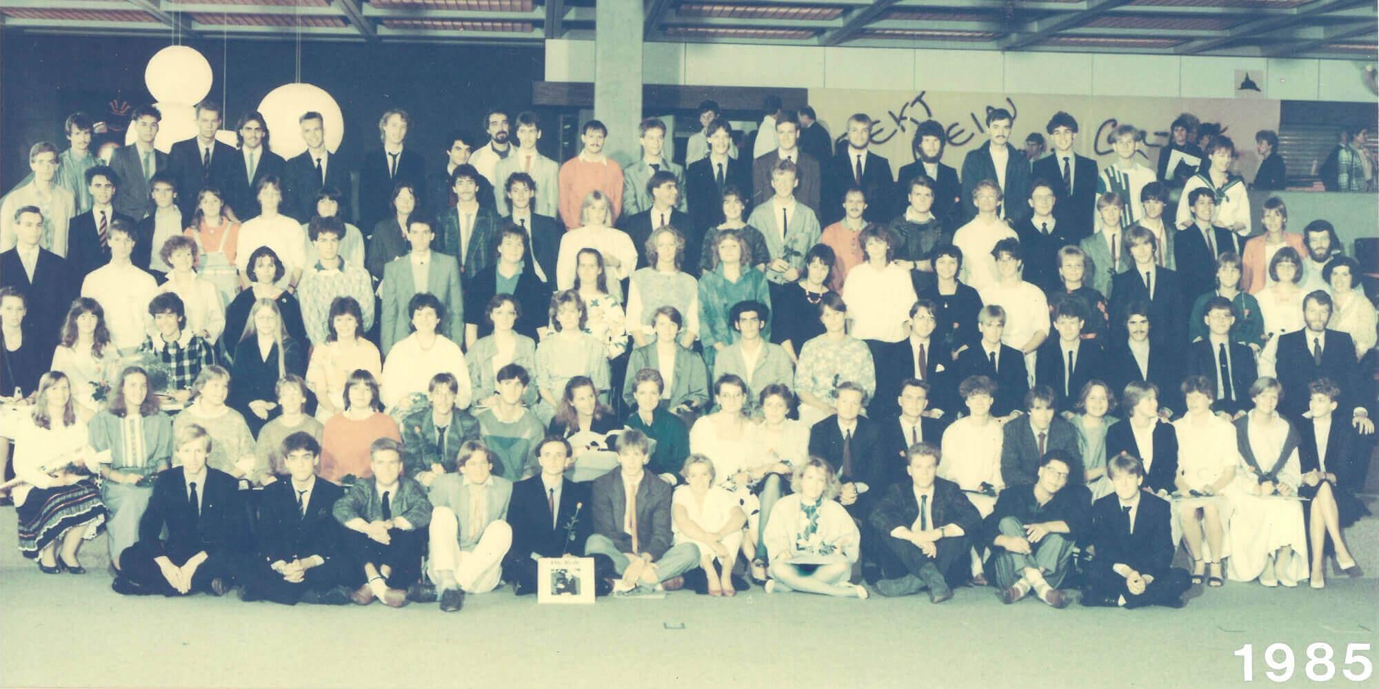 Abitur 1985 Jahrgangsbild - Banner