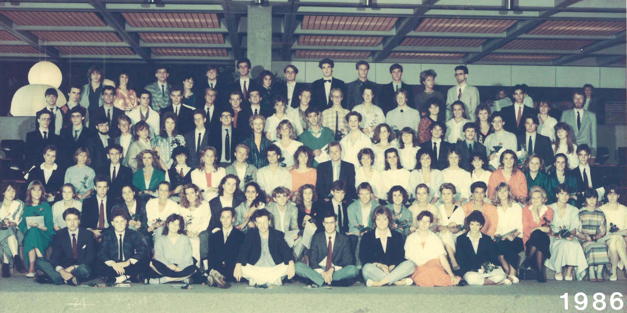 Abitur 1986 Jahrgangsbild - Banner