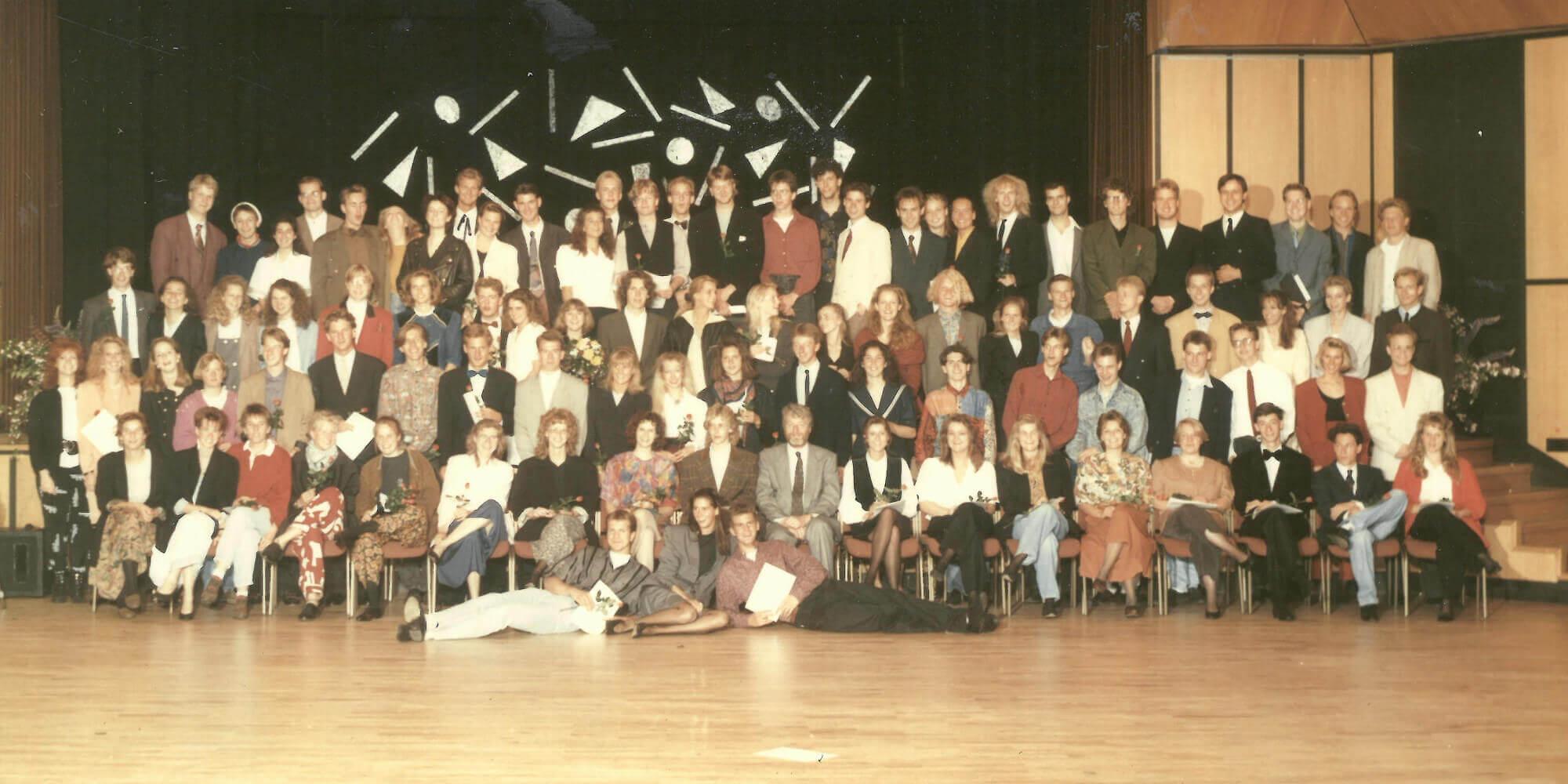 Abitur 1990 Jahrgangsbild - Banner