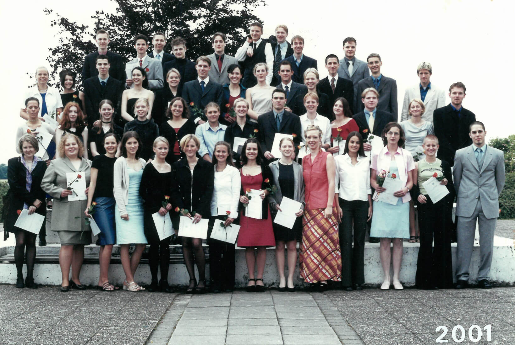Abitur 2001 Jahrgangsbild