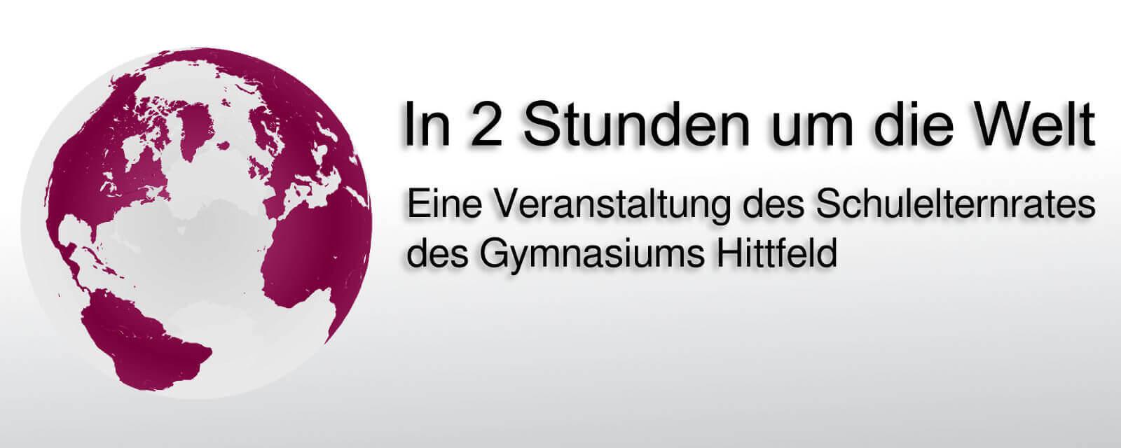Logo - In zwei Stunden um die Welt
